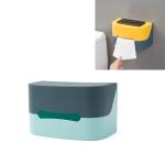 3 PCS Toilet Paper Towel Racks Household Punch-free Sanitary Tray Creative Waterproof Paper Roll Reel(Green)