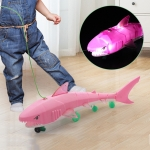 Electric Universal Luminous Belt Music Leash Shark Toy(Pink)