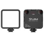 VIJIM VL81 Portable Three Cold and Hot Shoes Dual Color Temperature Fill Light Shooting Recording Lighting Light