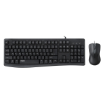 Rapoo NX1800 Wired Optical Keyboard and Mouse Set(Black)