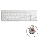 Rapoo MT710 104 Keys White Backlight Office Machinery Wired Keyboard(Tea Shaft)