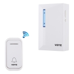 VOYE V015F Home Music Remote Control Wireless Doorbell with 38 Polyphony Sounds (White)