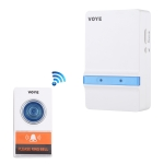 VOYE V012A Home Music Remote Control Wireless Doorbell with 38 Polyphony Sounds (White)