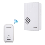VOYE V022F Home Music Remote Control Wireless Doorbell with 38 Polyphony Sounds (White)