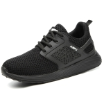 Jiefu Portable And Breathable Electrical Insulating Labor Protection Shoes (Color:Black Size:38)