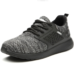 Jiefu Portable And Breathable Electrical Insulating Labor Protection Shoes (Color:Grey Size:37)