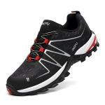 Jiefu Anti Smashing, Anti Piercing, Waterproof, Insulated And Anti Slip Safety Shoes (Color:Black Red Size:42)