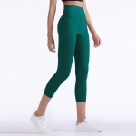 One Piece High Waist Tight Yoga Pants (Color:Laguna Size:XL)