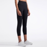 One Piece High Waist Tight Yoga Pants (Color:Black Size:M)