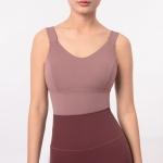 Chivalrous Woman Soft Armor Shockproof Sports Vest (Color:Misty Mocha Size:L)