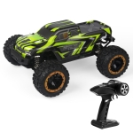 SG-1601 Brush Version 2.4G Remote Control Competitive Bigfoot Off-road Vehicle 1:16 Sturdy and Playable Four-wheel Drive Toy Car Model with LED Headlights & Head-up Wheels (Green)