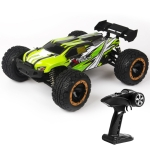 SG-1602 Brush Version 2.4G Remote Control Competitive Bigfoot Off-road Vehicle 1:16 Sturdy and Playable Four-wheel Drive Toy Car Model with LED Headlights (Green)