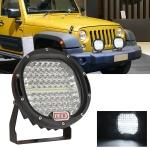 48W 7 inch Car Round Spotlight Work Light Floodlight + Spotlight