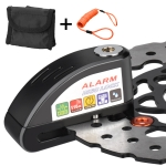 Motorcycles / Bicycle Anti-theft Lock Alarm Disc Brakes Lock with Cable and Bag (Black)