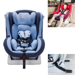 Car Forward and Reverse Installation Children Safety Sit and Lie Down Seat ISOFIX Soft Interface (Blue)