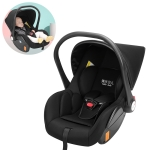 Car Newborn Safety Seat Portable Cradle for Baby Outing (Black)