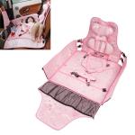 Car Ice Silk Fabric Portable Children Seat Kids Sleeping Pad (Pink)