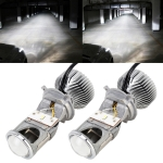 G1 H4 DC12V 35W 5500K Projector Light Headlight Mini LED Lens without Fan for Left Driving