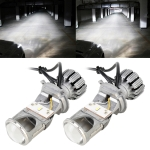 G2 H4 DC12V 35W 5500K Projector Light Headlight Mini LED Lens with Fan for Right Driving