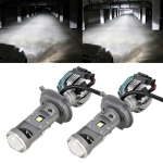 G7 H4 DC12V 55W 5500K Projector Light Headlight Mini LED Lens for Right Driving