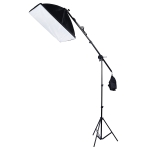 50x70cm Single Light Softbox + 200cm Heigh Photography Lighting Tripod Mount Stand + Arm Jib Crossbar Bracket Studio Flash Light Set