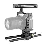 YELANGU C15 YLG0715A Video Camera Cage Stabilizer with Handle & Rail Rod for Nikon Z6 / Z7(Black)
