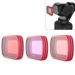 3 PCS PGYTECH P-18C-017 Profession Diving Lens Filter Suit for DJI Osmo Pocket