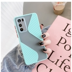 For Huawei P40 Contrast Color Stitching TPU Protective Case(Sky Blue)
