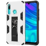For Huawei P Smart (2019) Armor Shockproof TPU + PC Magnetic Protective Case with Invisible Holder(White)