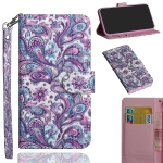 For Sony Xperia 5 3D Painting Pattern Horizontal Flip TPU + PU Leather Case with Holder & Card Slots & Wallet(Spiral Pattern)