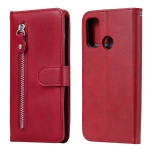 For Huawei P smart 2020 Fashion Calf Texture Zipper Horizontal Flip Leather Case with Stand & Card Slots & Wallet Function(Red)