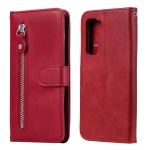 For Huawei P40 Lite (5G) / Nova 7 SE Fashion Calf Texture Zipper Horizontal Flip Leather Case with Stand & Card Slots & Wallet Function(Red)