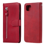 For Huawei Y5p Fashion Calf Texture Zipper Horizontal Flip Leather Case with Stand & Card Slots & Wallet Function(Red)