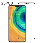 For Huawei Mate 30 25 PCS Full Glue Full Screen Tempered Glass Film