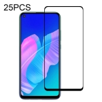 For Huawei P40 Lite E 25 PCS Full Glue Full Screen Tempered Glass Film