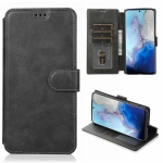 For Samsung Galaxy S20 Calf Texture Magnetic Buckle Horizontal Flip Leather Case with Holder & Card Slots & Wallet & Photo Frame(Black)