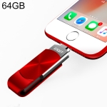 EAGET 64GB USB + 8 Pin Interface Metal Twister Flash U Disk