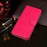 For ZTE Blade V 2020 idewei Crazy Horse Texture Horizontal Flip Leather Case with Holder & Card Slots & Wallet(Rose Red)