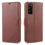 For Huawei Enjoy Z 5G AZNS Sheepskin Texture Horizontal Flip Leather Case with Holder & Card Slots & Wallet(Brown)