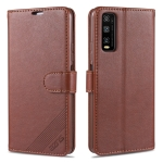For Vivo Y70s / Y51s AZNS Sheepskin Texture Horizontal Flip Leather Case with Holder & Card Slots & Wallet(Brown)