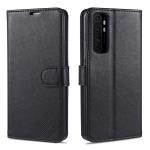 For Xiaomi Mi Note 10 Lite AZNS Sheepskin Texture Horizontal Flip Leather Case with Holder & Card Slots & Wallet(Black)