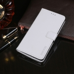 For Oukitel C19 idewei Crazy Horse Texture Horizontal Flip Leather Case with Holder & Card Slots & Wallet(White)