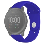 For Xiaomi Haylou Solar Silicone Reverse Buckle Replacement Wrist Strap(Royal Blue)