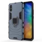 For Xiaomi Redmi 9A PC + TPU Anti-fall Protective Case with Magnetic Ring Holder(Navy Blue)