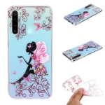 For Xiaomi Redmi Note 8 Coloured Drawing Pattern Highly Transparent TPU Protective Case(Butterfly Girl)