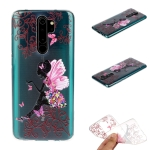 For Xiaomi Redmi Note 8 Pro Coloured Drawing Pattern Highly Transparent TPU Protective Case(Butterfly Girl)