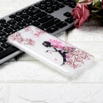 For Xiaomi Redmi Note 9 Coloured Drawing Pattern Highly Transparent TPU Protective Case(Butterfly Girl)