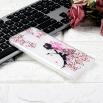 For Xiaomi Redmi Note 9S Coloured Drawing Pattern Highly Transparent TPU Protective Case(Butterfly Girl)