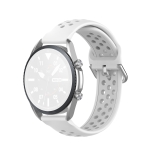 For Galaxy Watch 3 45mm Silicone Sports Solid Color Strap, Size: Free Size 22mm(White)