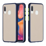 For Samsung Galaxy A20e / A10e Skin Hand Feeling Series Shockproof Frosted PC+ TPU Protective Case(Blue)